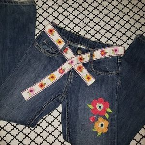 *Gymboree* girls bootcut floral jeans. Size 9
